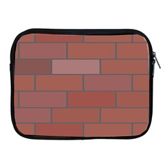 Brick Stone Brown Apple iPad 2/3/4 Zipper Cases