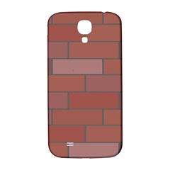 Brick Stone Brown Samsung Galaxy S4 I9500/I9505  Hardshell Back Case