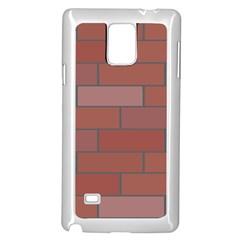 Brick Stone Brown Samsung Galaxy Note 4 Case (White)
