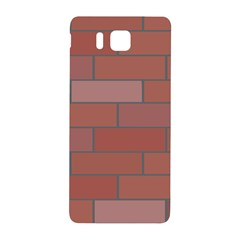 Brick Stone Brown Samsung Galaxy Alpha Hardshell Back Case