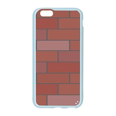 Brick Stone Brown Apple Seamless iPhone 6/6S Case (Color)