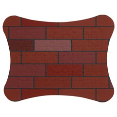 Brick Stone Brown Jigsaw Puzzle Photo Stand (Bow)
