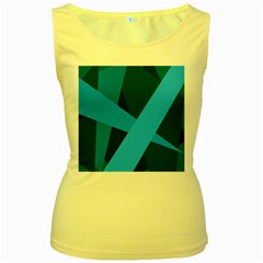Blue Flag Women s Yellow Tank Top
