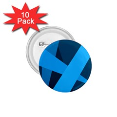 Blue Flag 1.75  Buttons (10 pack)