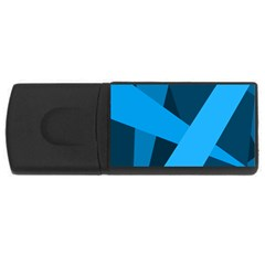 Blue Flag USB Flash Drive Rectangular (2 GB)