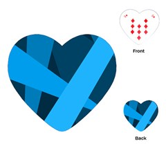 Blue Flag Playing Cards (Heart)