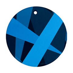 Blue Flag Round Ornament (Two Sides)