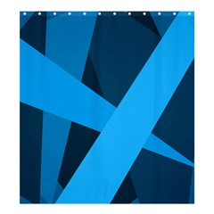Blue Flag Shower Curtain 66  x 72  (Large)