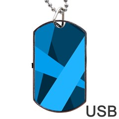 Blue Flag Dog Tag USB Flash (Two Sides)
