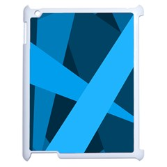 Blue Flag Apple iPad 2 Case (White)