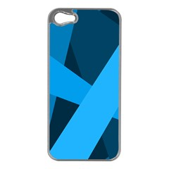 Blue Flag Apple iPhone 5 Case (Silver)
