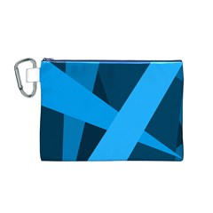 Blue Flag Canvas Cosmetic Bag (M)