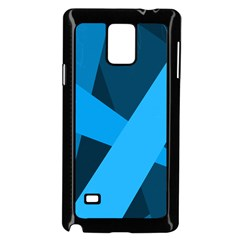 Blue Flag Samsung Galaxy Note 4 Case (Black)