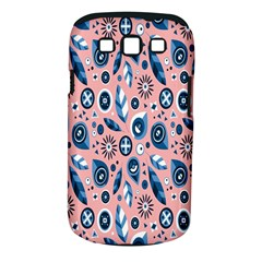 Bird Feathers Circle Sun Flower Floral Purple Pink Samsung Galaxy S III Classic Hardshell Case (PC+Silicone)
