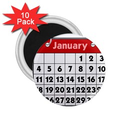 Calendar Clip January 2.25  Magnets (10 pack)