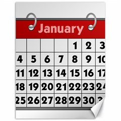 Calendar Clip January Canvas 18  x 24
