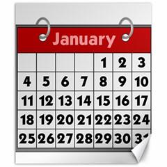 Calendar Clip January Canvas 20  x 24