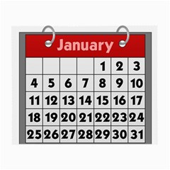 Calendar Clip January Small Glasses Cloth (2-Side)