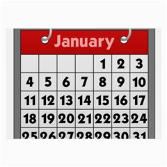 Calendar Clip January Large Glasses Cloth