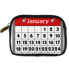 Calendar Clip January Digital Camera Cases