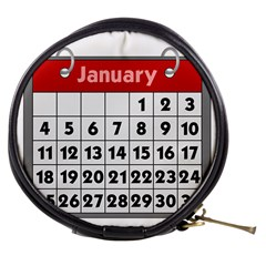 Calendar Clip January Mini Makeup Bags