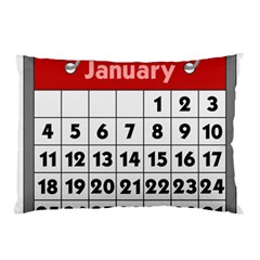Calendar Clip January Pillow Case (Two Sides)