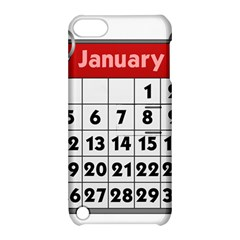 Calendar Clip January Apple iPod Touch 5 Hardshell Case with Stand