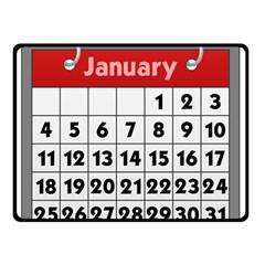 Calendar Clip January Double Sided Fleece Blanket (Small)