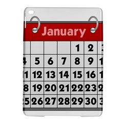 Calendar Clip January iPad Air 2 Hardshell Cases