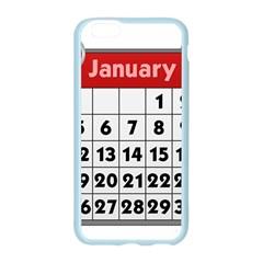 Calendar Clip January Apple Seamless iPhone 6/6S Case (Color)