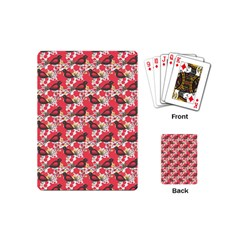 Birds Seamless Cute Birds Pattern Cute Red Playing Cards (Mini)