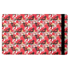 Birds Seamless Cute Birds Pattern Cute Red Apple iPad 3/4 Flip Case