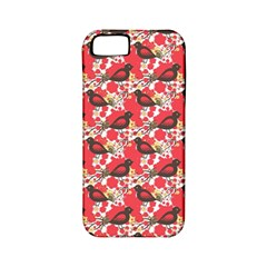 Birds Seamless Cute Birds Pattern Cute Red Apple iPhone 5 Classic Hardshell Case (PC+Silicone)