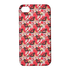 Birds Seamless Cute Birds Pattern Cute Red Apple iPhone 4/4S Hardshell Case with Stand