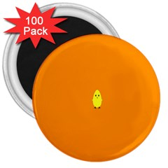 Chicks Orange Animals 3  Magnets (100 pack)