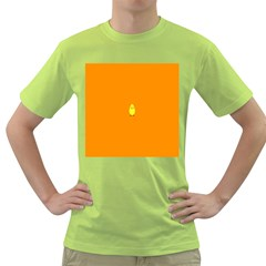 Chicks Orange Animals Green T-Shirt