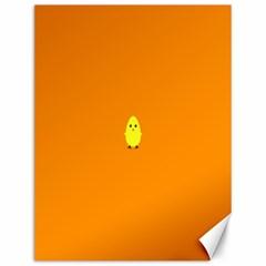 Chicks Orange Animals Canvas 12  x 16