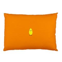 Chicks Orange Animals Pillow Case