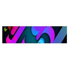 Chevron Wave Rainbow Purple Blue Pink Satin Scarf (Oblong)