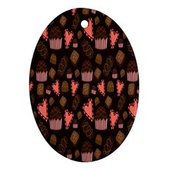 Bread Chocolate Candy Ornament (Oval)
