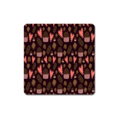 Bread Chocolate Candy Square Magnet