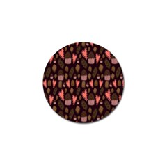 Bread Chocolate Candy Golf Ball Marker (4 pack)