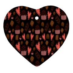 Bread Chocolate Candy Heart Ornament (Two Sides)