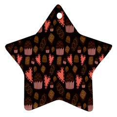 Bread Chocolate Candy Star Ornament (Two Sides)