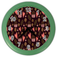 Bread Chocolate Candy Color Wall Clocks
