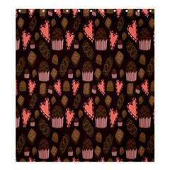 Bread Chocolate Candy Shower Curtain 66  x 72  (Large)