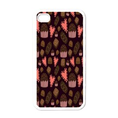 Bread Chocolate Candy Apple iPhone 4 Case (White)