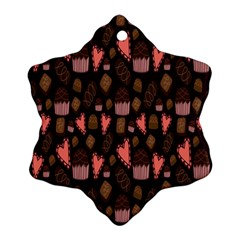 Bread Chocolate Candy Snowflake Ornament (Two Sides)
