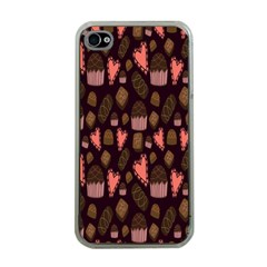 Bread Chocolate Candy Apple iPhone 4 Case (Clear)