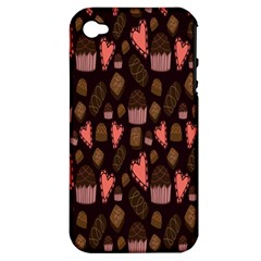 Bread Chocolate Candy Apple iPhone 4/4S Hardshell Case (PC+Silicone)
